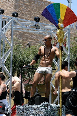 Podium dancer WEHO Gay Pride 2010