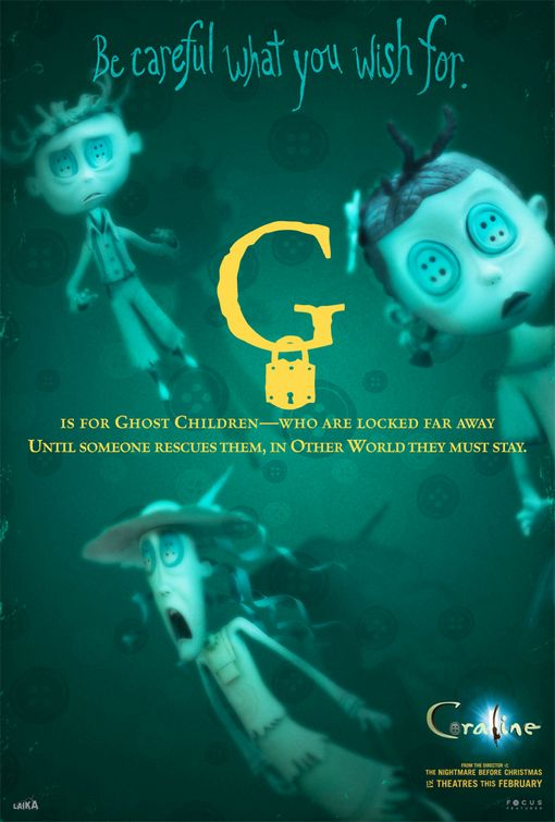 Coraline ghost children poster