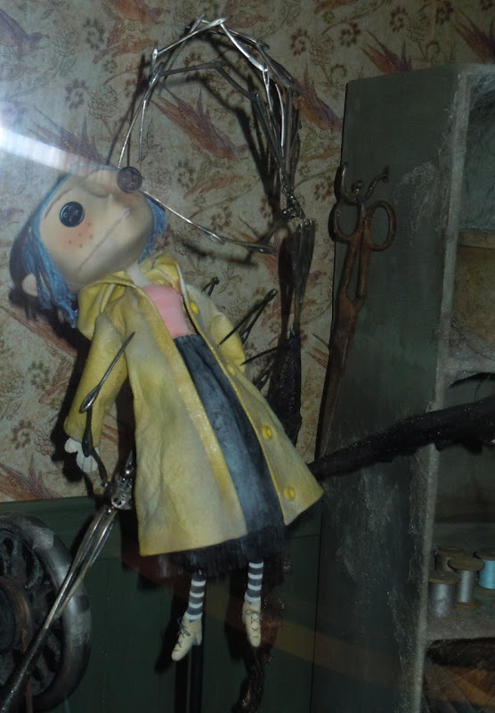 Coraline stop-motion animation puppet