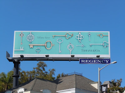 Tiffany Keys jewelry billboard