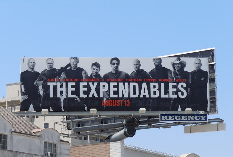 Expendables movie billboard