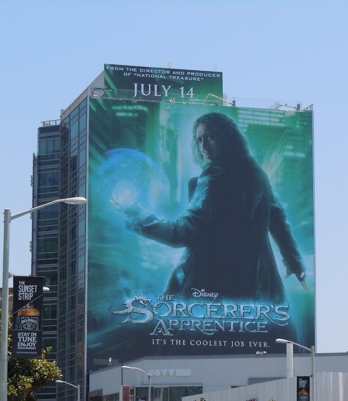 Nicholas Cage The Sorcerer's Apprentice movie billboard