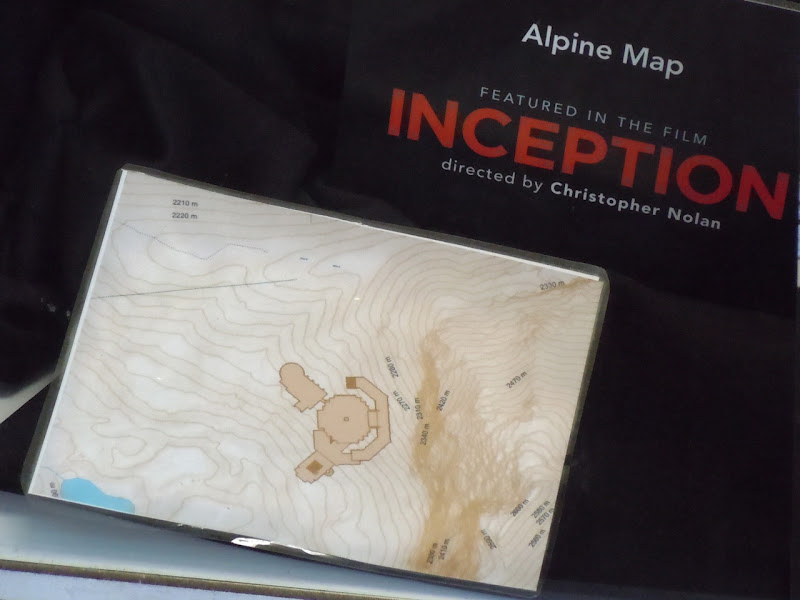 Inception Alpine map film prop