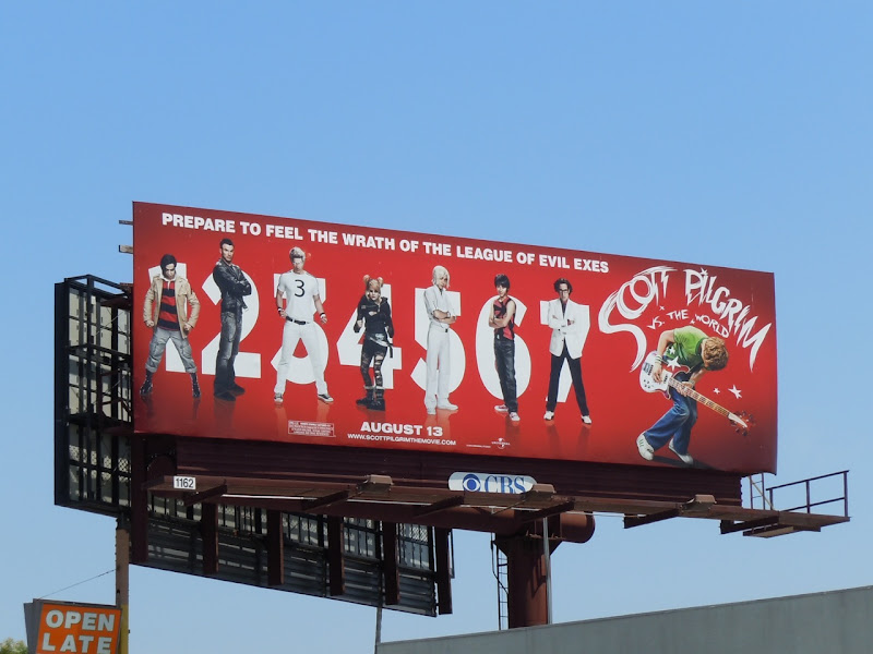 Scott Pilgrim vs the World movie billboard
