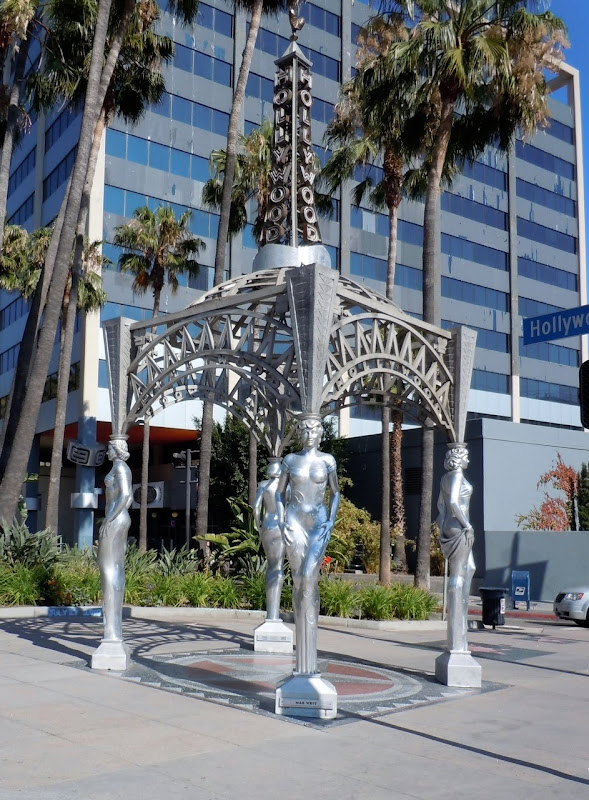 Silver Ladies Hollywood Gateway Monument