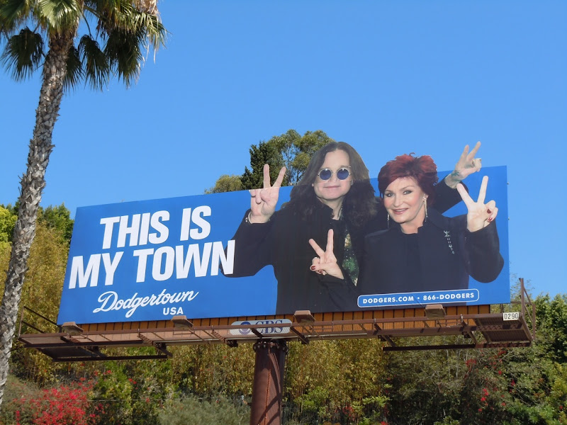 The Osbournes Dodgertown billboard