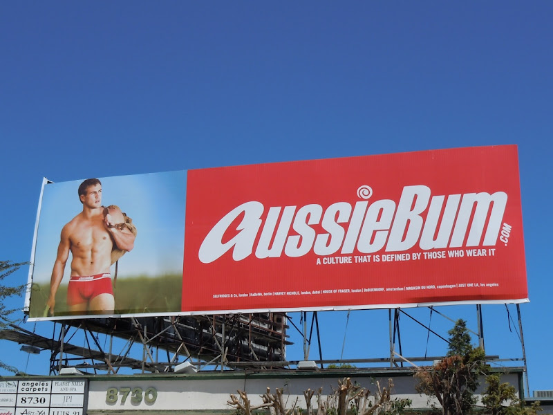 AussieBum male underwear model billboard