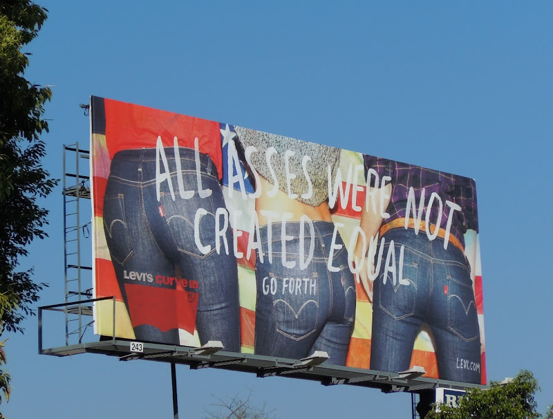 Levi's All Asses Not Equal billboard