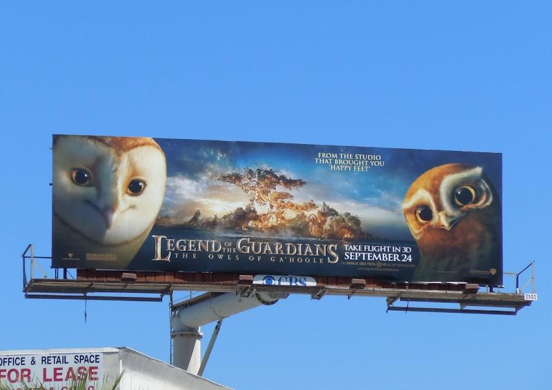 Legend of the Guardians movie billboard