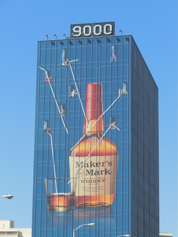 Maker's Mark whisky straws billboard Sunset Strip