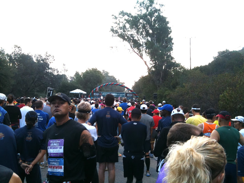 Rock n Roll LA Half Marathon start line