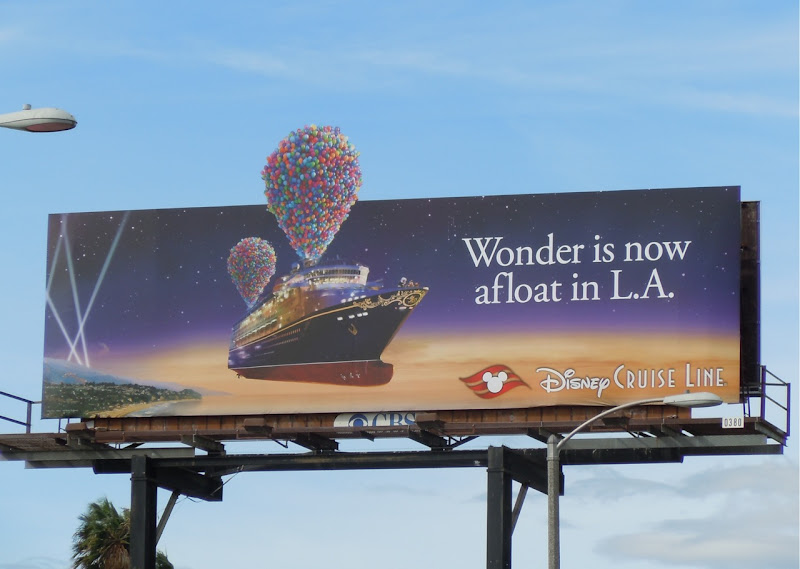 Disney Cruise Line balloons billboard