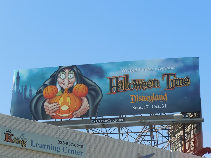 Disney Halloween witch billboard
