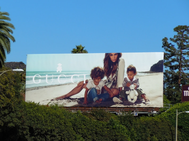 JLO and twins Gucci billboard