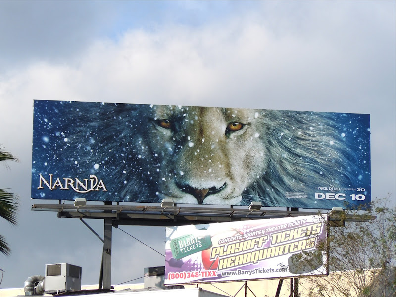 Narnia Voyage of the Dawn Treader billboard