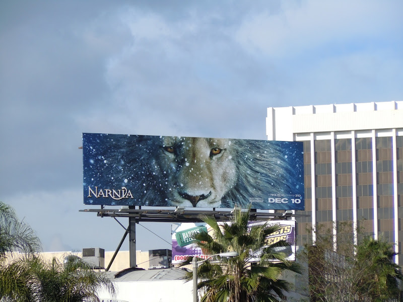 Narnia Aslan teaser movie billboard