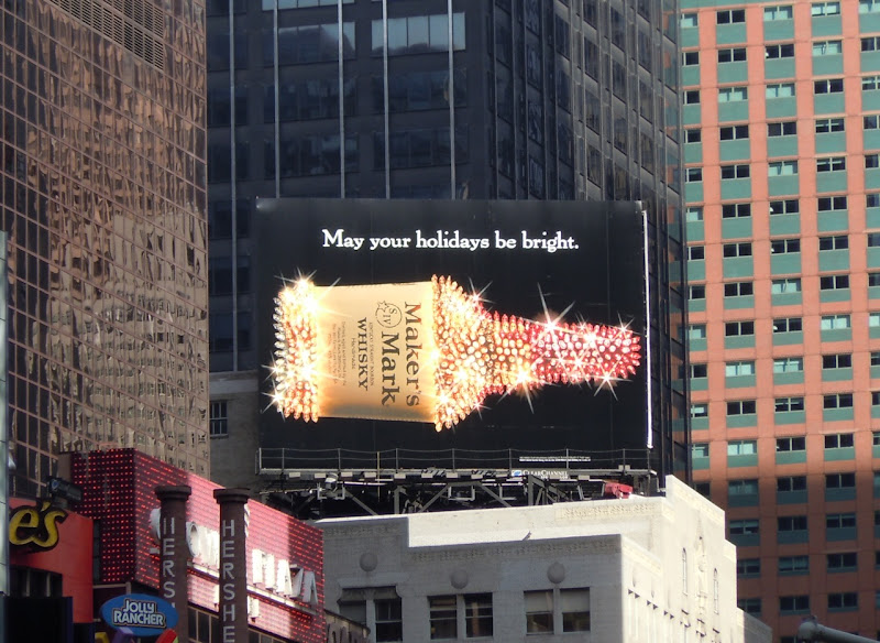 Maker's Mark Holidays 2010 billboard New York