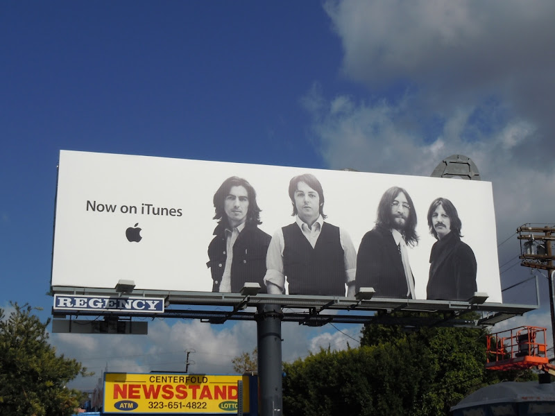 iTunes Beatles billboard