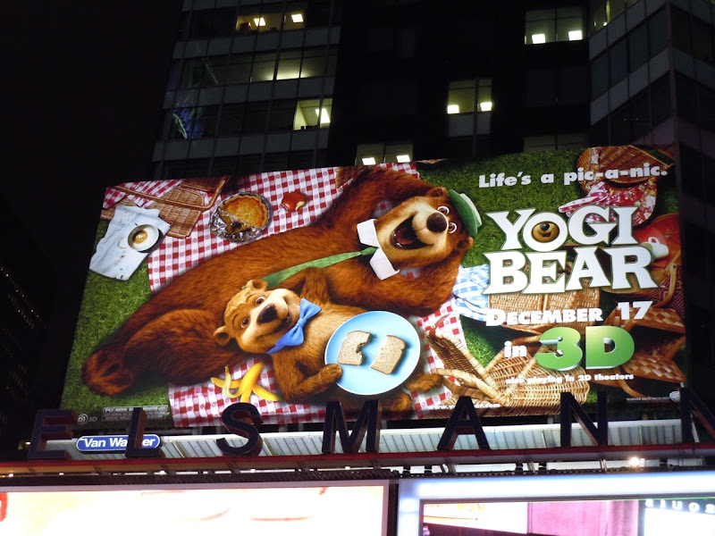 Yogi Bear movie billboard Times Square