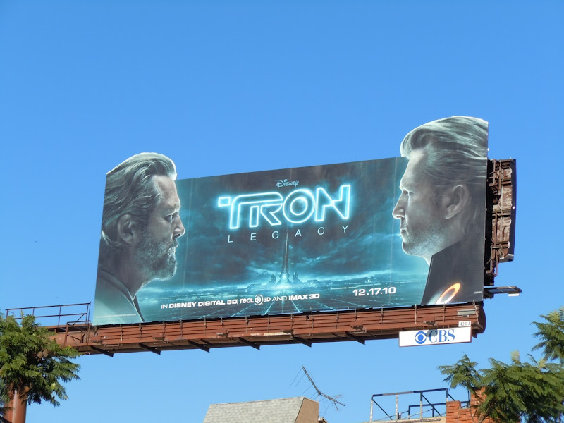 Flynn and Clu Tron Legacy billboard