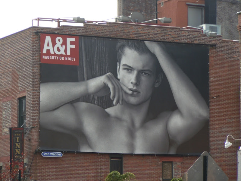 Abercrombie Naughty or Nice billboard NYC