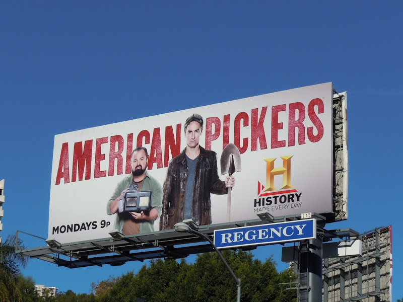 American Pickers History Channel billboard