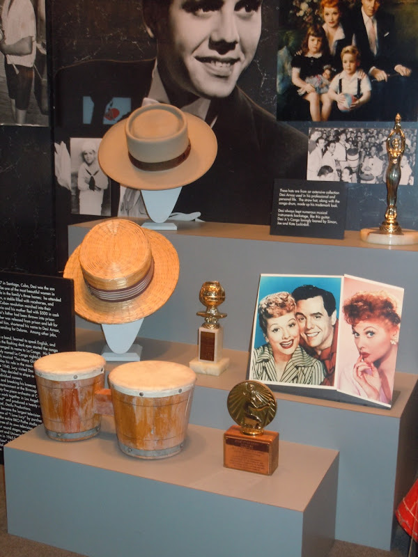 Desi Arnaz hats and conga drum