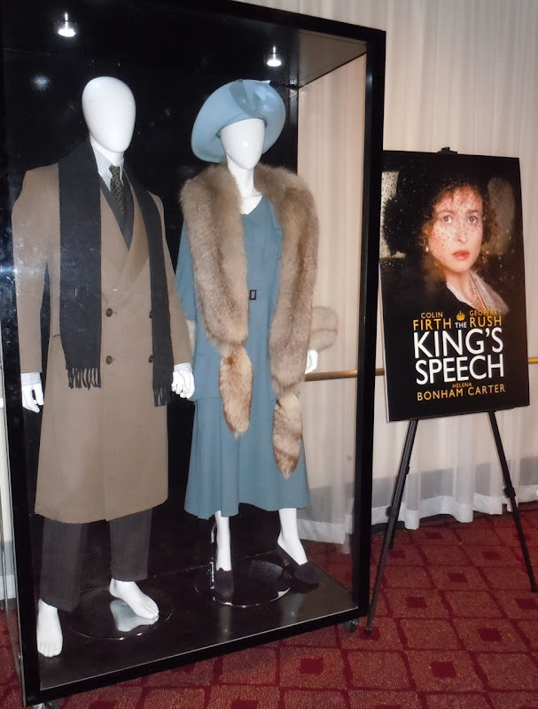 The King's Speech movie costume display