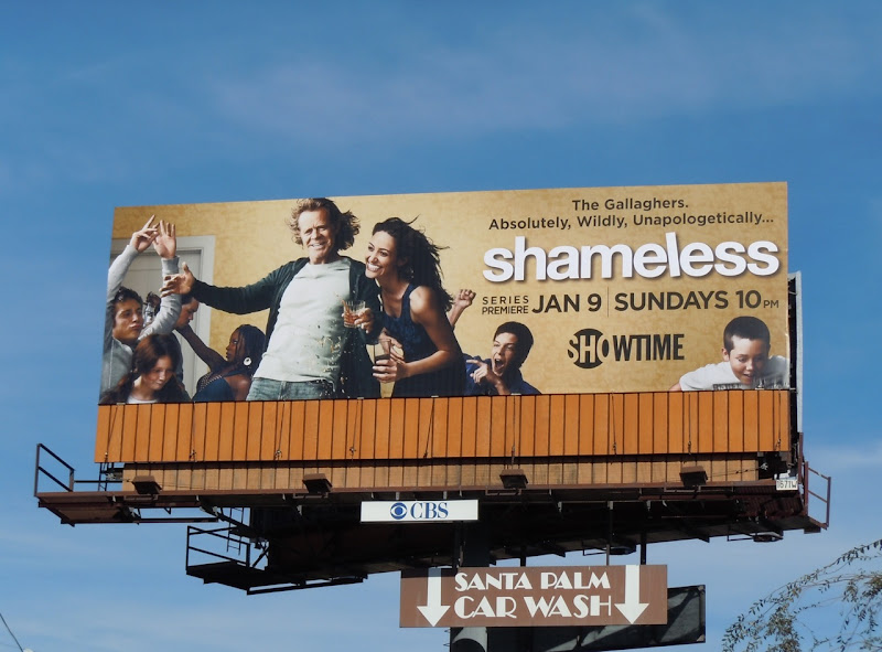 Shameless Showtime TV remake billboard