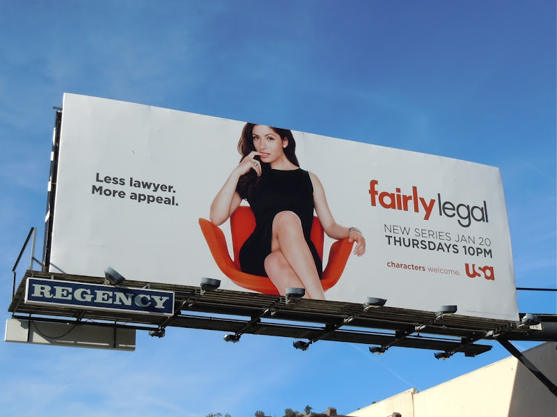 Fairly legal TV billboard