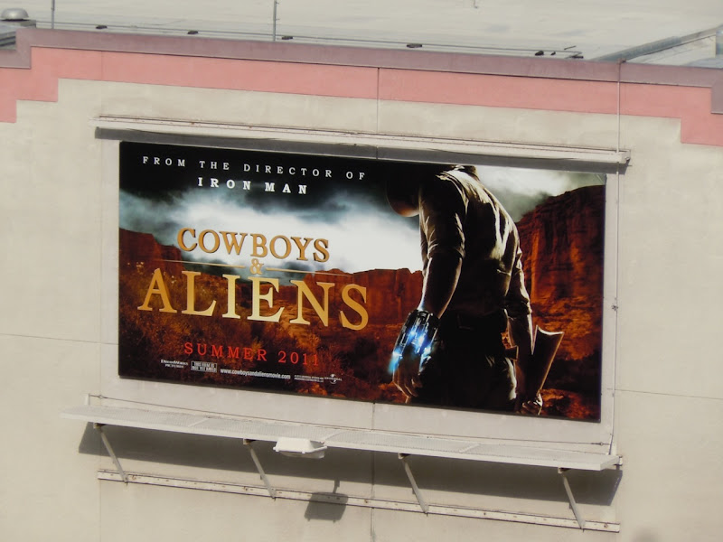 Cowboys and Aliens film billboard