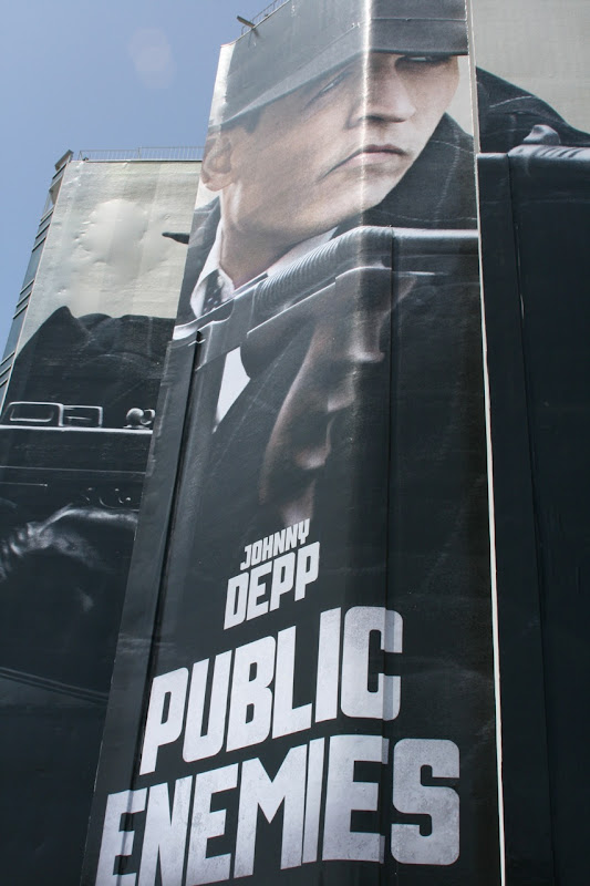 Johnny Depp Public Enemies billboard