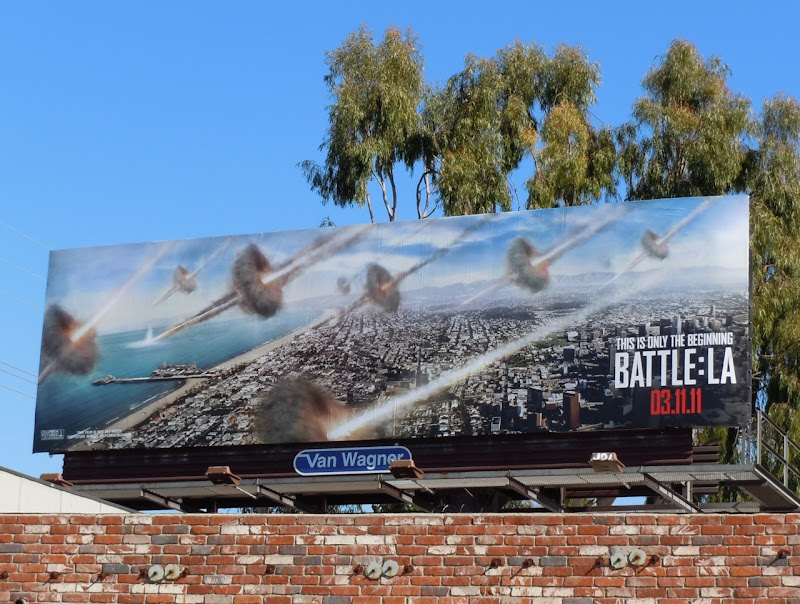 Battle LA movie billboard