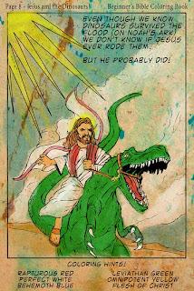 Jesus on a dinosaur  Wait, what? - Stuff Christians Like