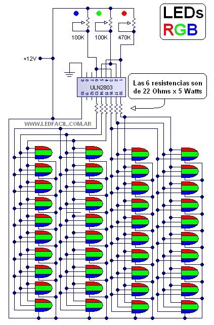 40 Led RGB Menggunakan ULN 2803