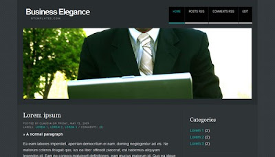 Business Elegance Blogger Layout