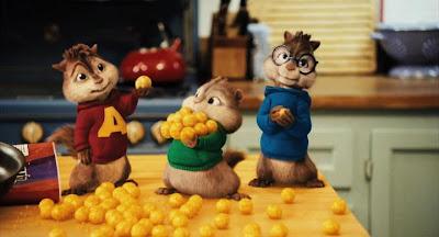 mis la main sur une série d?extraits d?Alvin et les Chipmunks