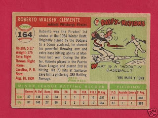 Vintage Baseball Cards 1955 Topps Roberto Clemente Rookie