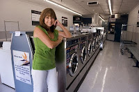 Deborah Dower, pictured August 18, 2010, turned a run-down Citrus Heights, California laundromat into Paradise Laundry. The 'green'-themed business opened in March and has already added a new site. (Paul Kitagaki Jr./Sacramento Bee/MCT) ( PAUL KITAGAKI JR. )