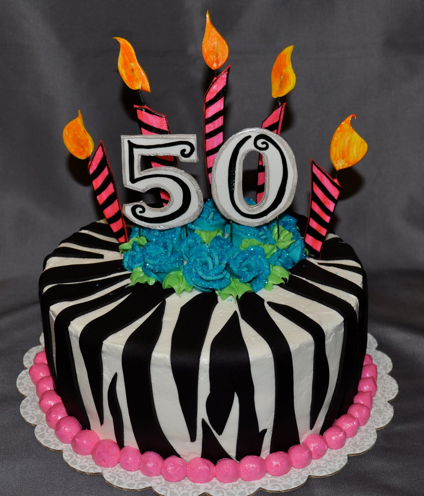 Homemade 50th Birthday Cake