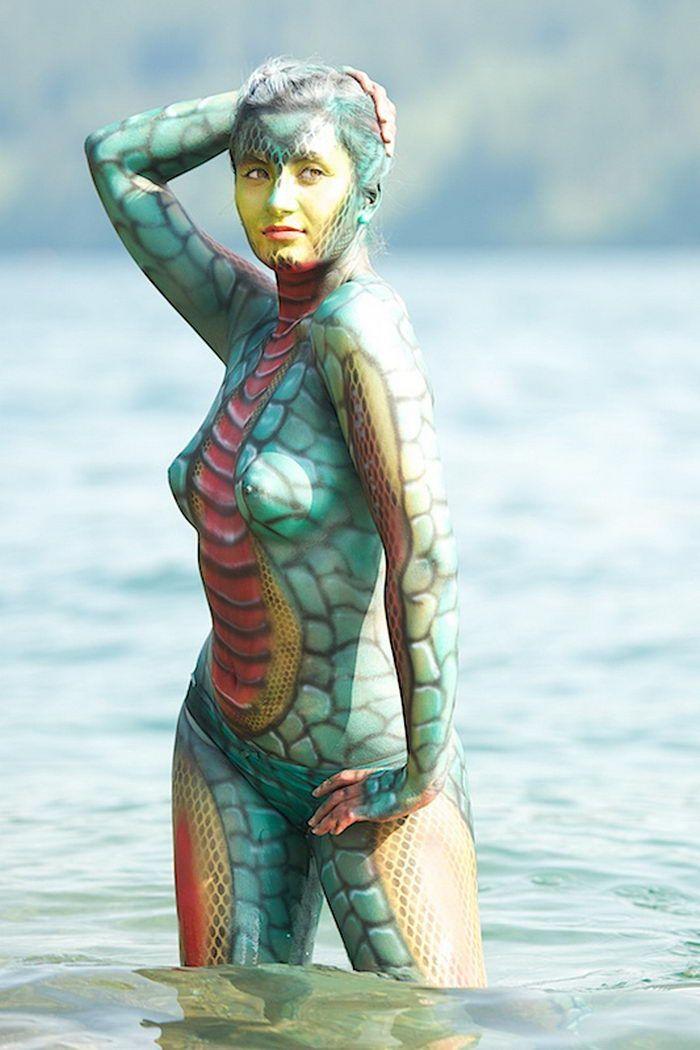 Celebrity Nude Body Art On Motorcycle Jpg