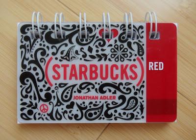 starbucks gift card notebook