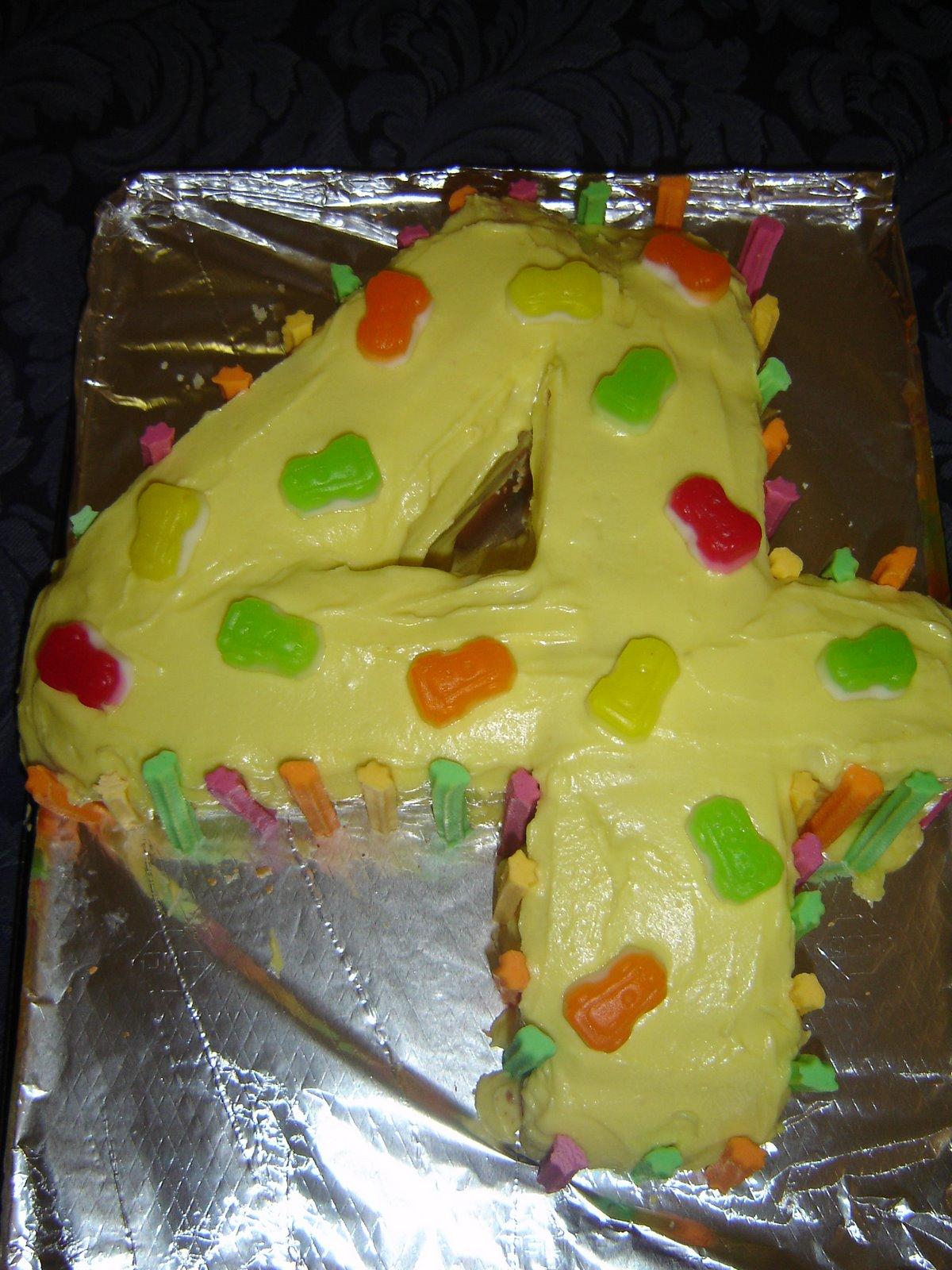 Lightening: Number 4 Birthday Cake