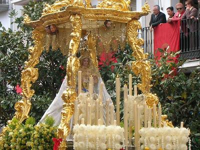 Vista de la Virgen de Luna en su templete. Año 2007. . Foto cedida por Pozoblanco News, las noticias y la actualidad de Pozoblanco (Córdoba)* www.pozoblanconews.blogspot.com. Prohibido su uso y reproducción.