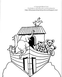 Entretenimiento Infantil Para Niños Dibujo Del Arca De Noe Para
