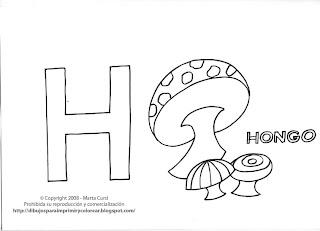 Dibujos Con H Para Colorear