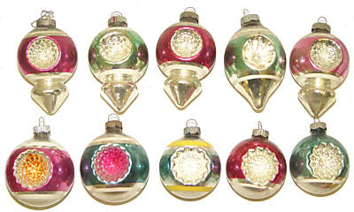Indented Glass Christmas Ornaments For Crafting