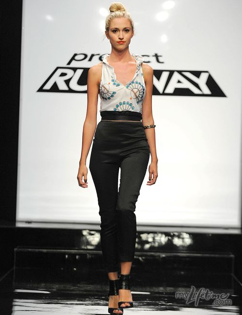 """Project Runway's """"Squash Blossom"""" blouse 