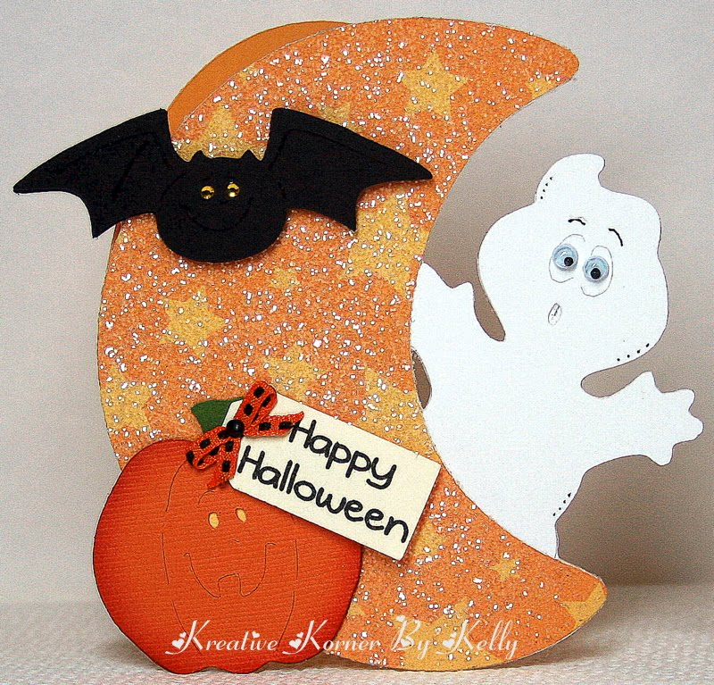 Kreative Korner By Kelly A Simple Shaped Halloween Card Made With