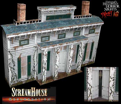 Haunted Dimensions by Ray Keim: Halloween Horror Nights Paper Model